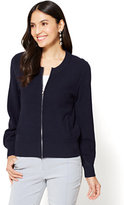 New York & Co. 7th Avenue - Textured Zip-Front Cardigan