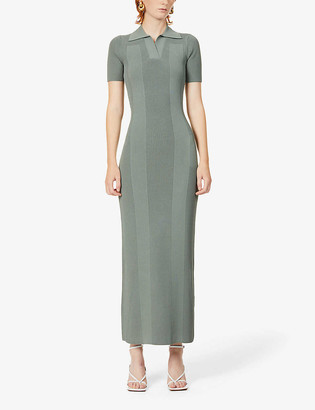 Jacquemus La Robe Maille stripe knitted maxi dress