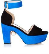 Nicholas Kirkwood Maya pearl-embellished block-heel sandals