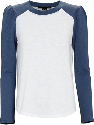 Veronica Beard Mason Baseball Cotton T-Shirt