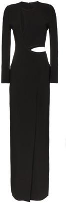 Haider Ackermann Silk Maxi Cut Out Dress