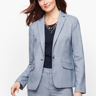 Talbots Sharkskin Single Button Blazer