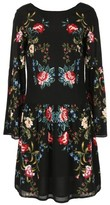 Rene Derhy Floral Printed Dress with Lace Detail
