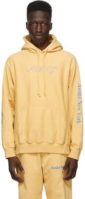 Awake NY Yellow Classic Outline Logo Hoodie
