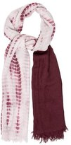 Chan Luu Bicolor Tie-Dye Scarf