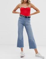 Levi's Ribcage crop flare jeans in lightwash blue