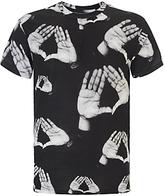 Eleven Paris Rova Hand Print T-shirt, Black/white