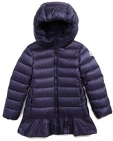 Moncler Girl's Nadra Hooded Down Jacket