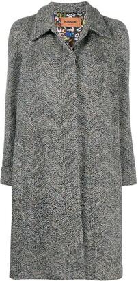 Missoni Single Breasted Zigzag Coat