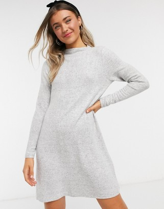 Only long sleeve dress in grey