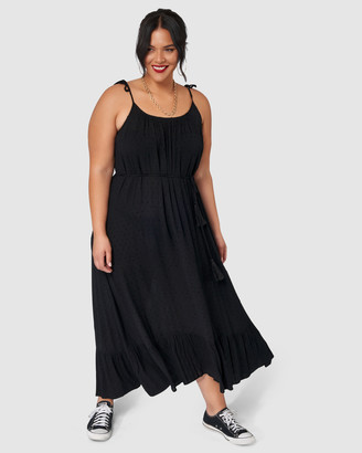 Sunday In The City - Women's Black Maxi dresses - Whats Poppin Maxi Dress - Size One Size, 14 at The Iconic