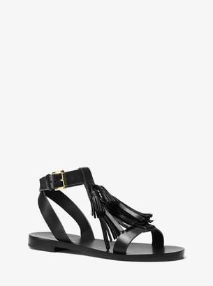 Michael Kors Steffi Leather Tassel Sandal