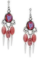 Gerard Yosca Pink Oval Chandelier Earrings