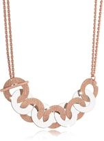 Rebecca R-Zero Rose Gold Over Bronze and Steel Maxi Chain Necklace