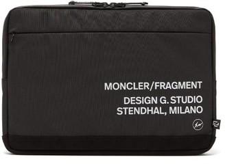 7 Moncler Fragment - Logo-print Nylon Document Holder - Black