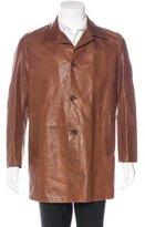 Prada Leather Car Coat