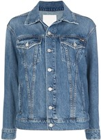 Mother buttoned-sleeves denim jacket