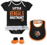 NFL Cincinnati Bengals 3-Piece Creeper, Bib, and Bootie Set