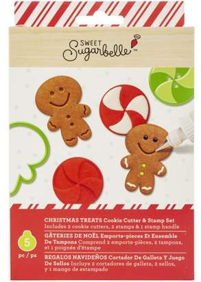 American Crafts Sweet Sugarbelle Cookie Cutter & Stamp Set 5/Pkg-Christmas Treats