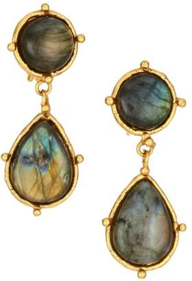 Sylvia Toledano Intemporels 22K Yellow Goldplated & Labradorite Drop Earrings