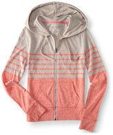 Aeropostale Womens Chest Stripe Full-Zip Hoodie
