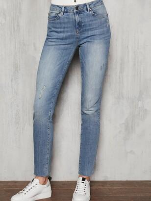 Mint Velvet Houston Distressed Slim Jeans - Light Indigo