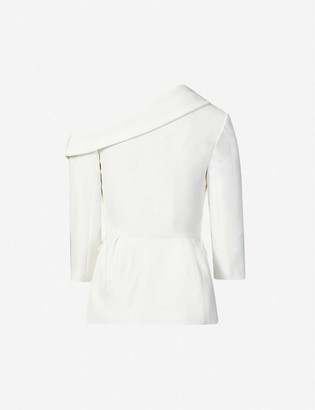 Huishan Zhang Farrah off-shoulder embellished woven jacket