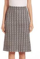 Derek Lam Crochet Wool A-Line Skirt