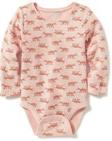 Old Navy Patterned Thermal Bodysuit for Baby