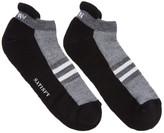 Satisfy Black and Grey Patchwork Low Socks