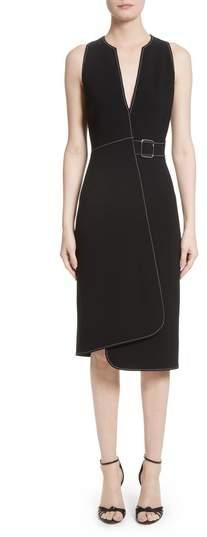 Altuzarra Asymmetrical Belted Dress