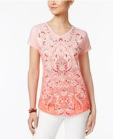 Style&Co. Style & Co Graphic Print Top, Only at Macy's