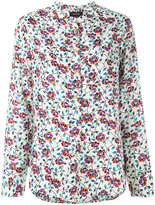 Isabel Marant collarless floral shirt - women - Silk/Cotton - 38