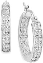 Townsend Victoria Rose-Cut Diamond Two-Row Hoop Earrings in Sterling Silver (1/2 ct. t.w.)