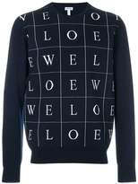 Loewe letters jumper