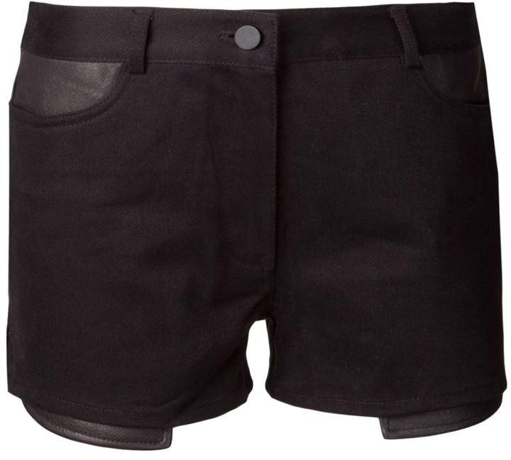 Alexander Wang panelled denim shorts