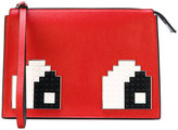 Les Petits Joueurs Jack Eyes clutch - women - Leather - One Size