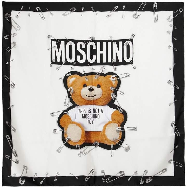 Moschino Teddy Bear Silk Scarf