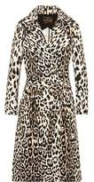 Roberto Cavalli Leopard-Print Cotton-Twill Trench Coat