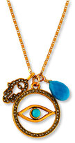 Sequin Evil Eye Talisman Pendant Necklace
