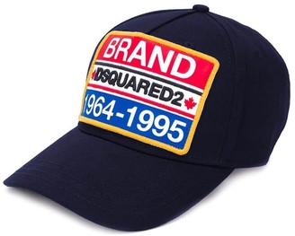 DSQUARED2 Navy Blue Patch Baseball Cap