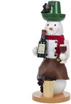 Kurt Adler 14 Wooden Wine Snowman Nutcracker