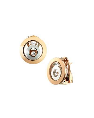 Chopard Happy Spirit 18k Two-Tone Diamond Circle Earrings