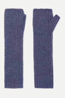 Johnstons of Elgin Cashmere Wrist Warmers - Blue
