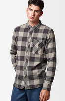 Tavik Barber Plaid Flannel Long Sleeve Button Up Shirt