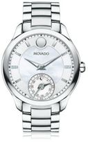 Movado Bellina Motion Smart Diamond, Mother-Of-Pearl & Stainless Steel Bracelet Watch