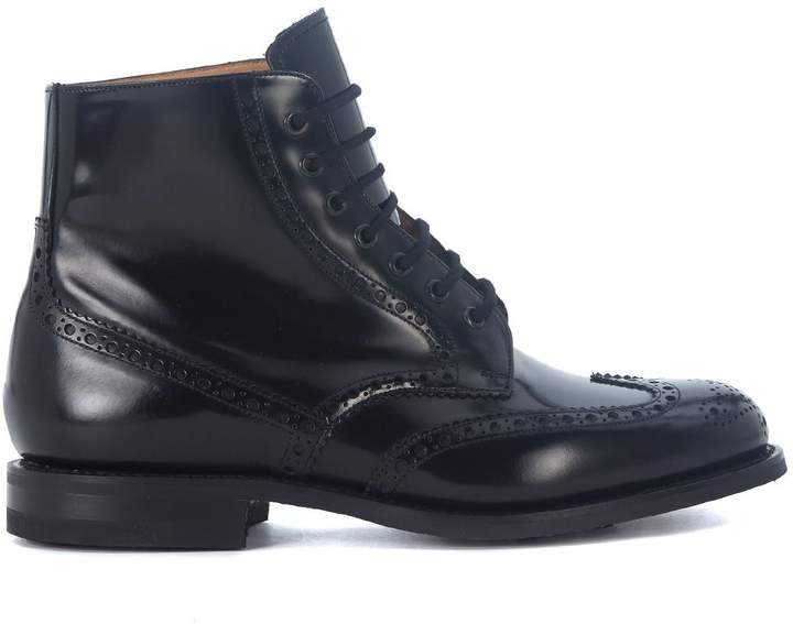 Church's Renwick Black Brushed Leather Ankle Boots