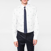 Paul Smith Men's Tailored-Fit White 'Gufram Cactus' Cotton-Twill Shirt