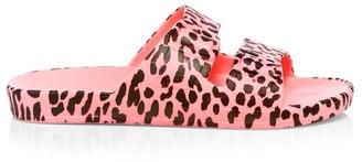 Freedom Moses Leopard-Print Plastic Pool Slides