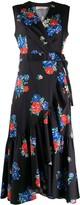 Tory Burch rose print wrap dress